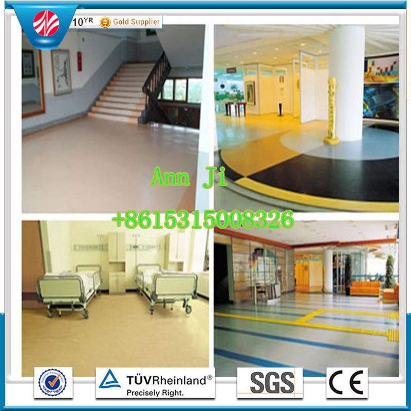 Commercial Hospital Rubber Flooring, Waterproof Anti-Slip Floor