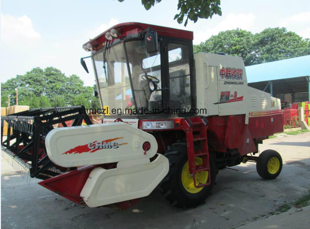 4lz-8 Wheel Type Paddy Combine Harvester