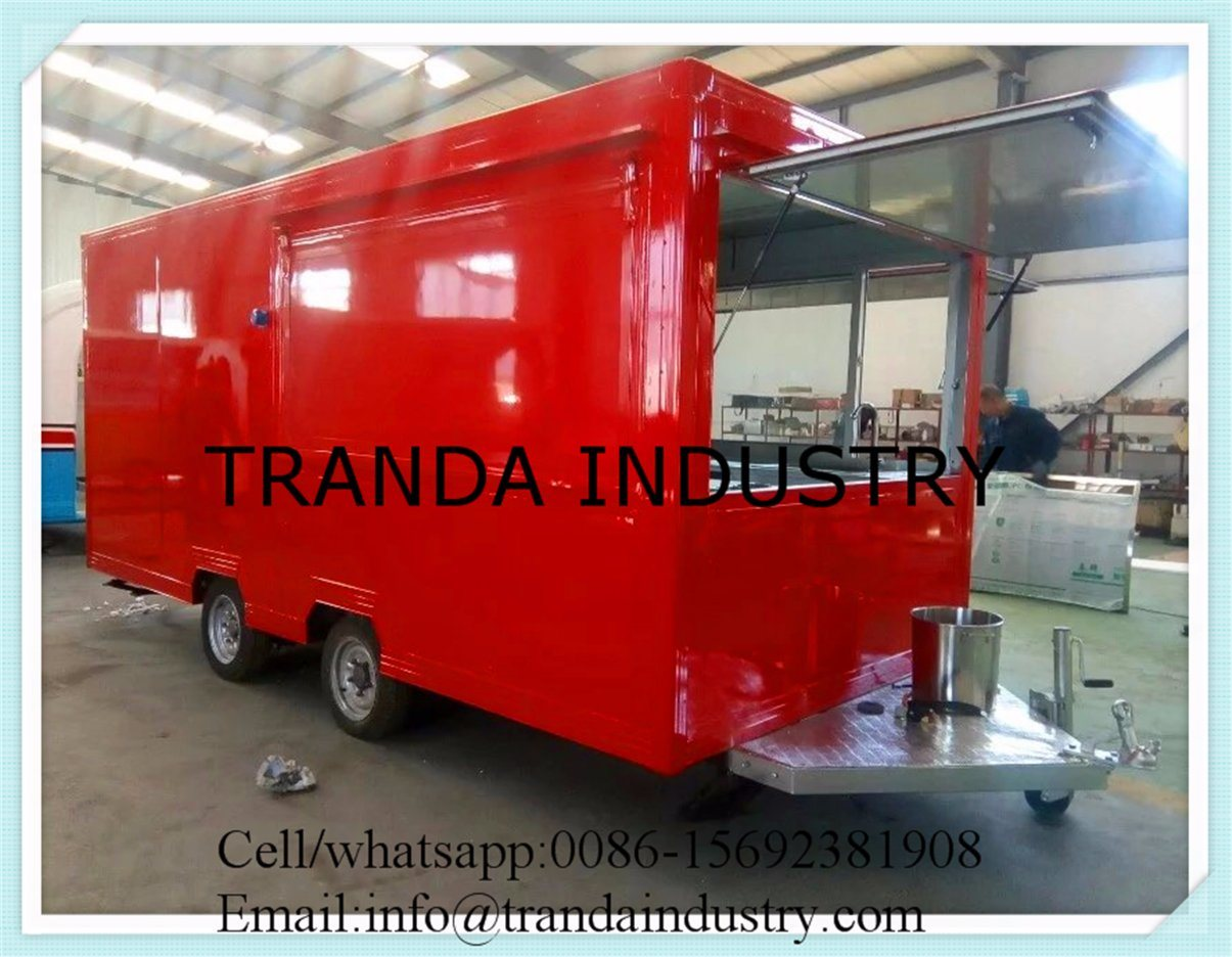 2017 Food Truck Trailer/Snack Mobile Food Trailer/Mobile Kitchen Car with Ce