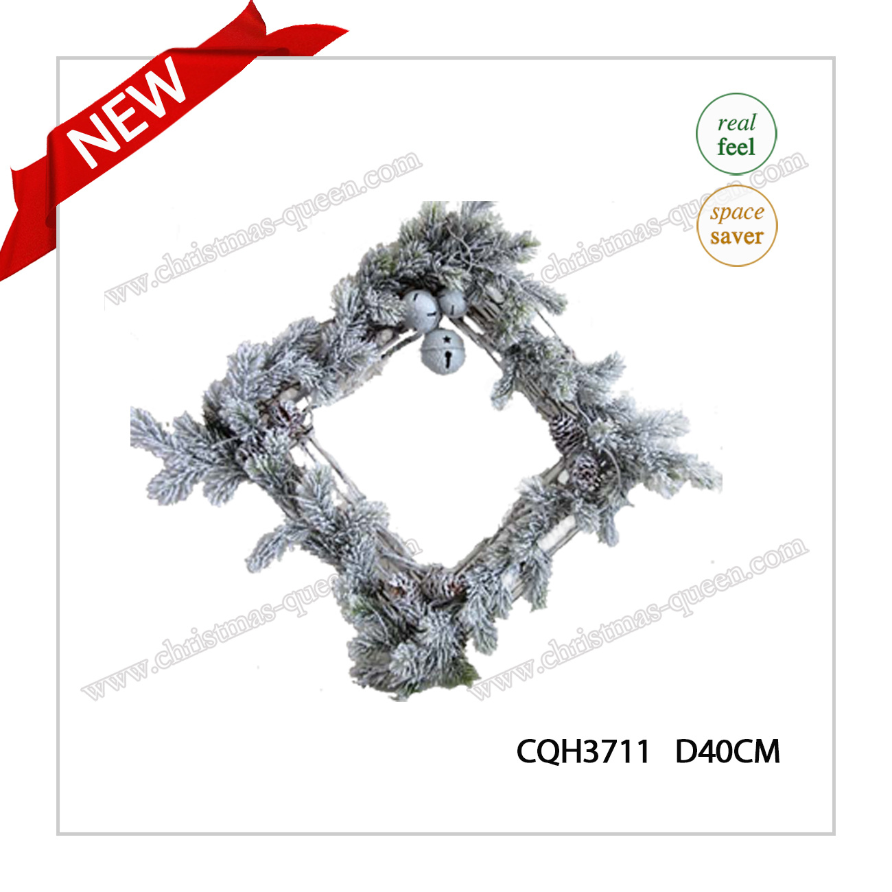 2017 New Arrival D40cm PE Party Supplies Glow Innovative Wreath