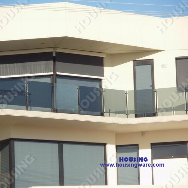 China modern balcony glass railing design china glass for Balcony glass railing designs pictures