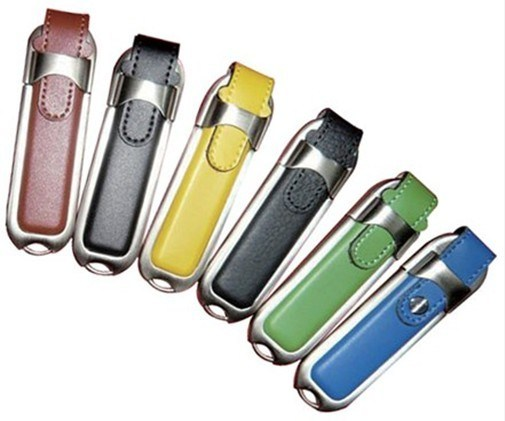 1GB-64GB Rectangular Leather USB Flash Drive Style No. UF-406