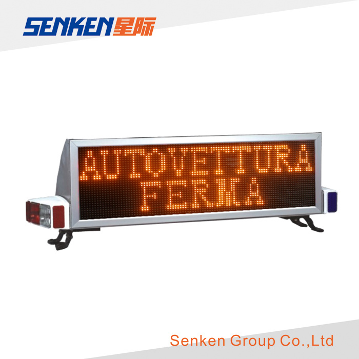 Words Edit Warning LED Light Bar and LED Screen Display