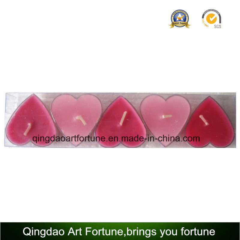 Clear Cup Tealight Candle for Mother′s Valentine′s Wedding Day Decor