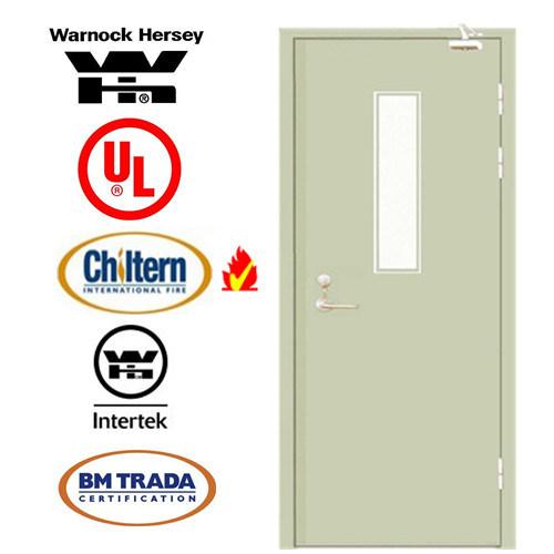 Steel Fire Door/ Fireproofing Steel Door/ BS Tested/UL Certified/Safety Door with Vison Glass