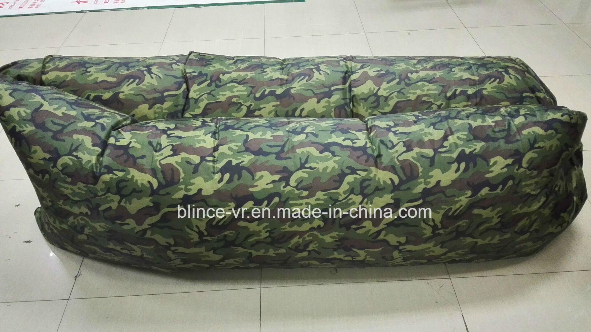 Stock Outdoor Indoor Sleeping Bag Custom Logo Air Inflatable Hangout Sofa
