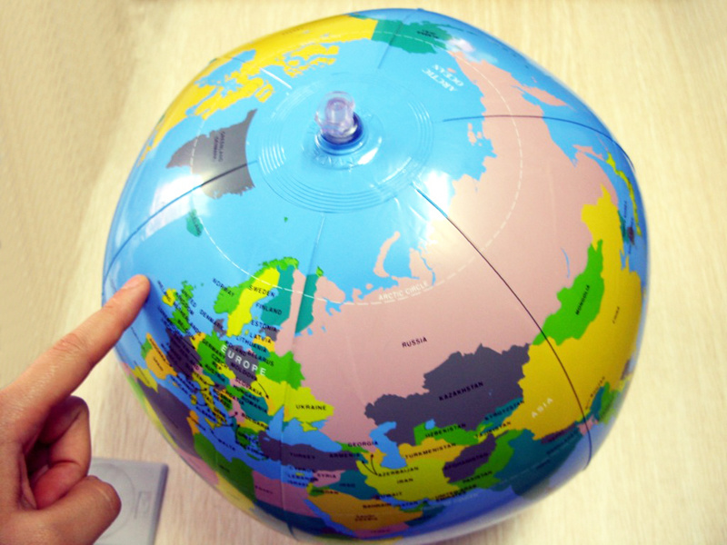 Inflatable 20cm Dia Globe Earth Sphere Ball for Sale