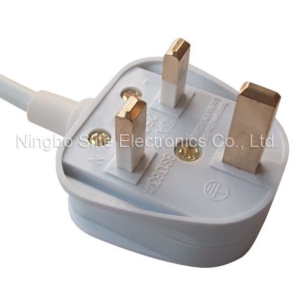 Great Britain AC Power Cord, Bs Approved non-rewirable Plug UK Flexible Cables