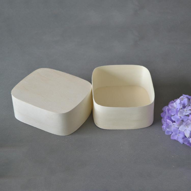 Customized Logo Sqaure Soft Wooden Birch Packing Bark Wood Box