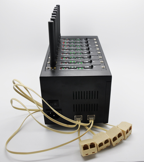 8-Port 32 Sims GSM Gateway / FWT / Fct / Wll/ Wireless Office, IMEI Change, SIM Rotation Support