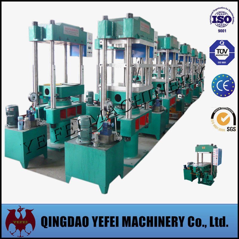Four Columns Rubber Compression Molding Machine with Automatic PLC Control