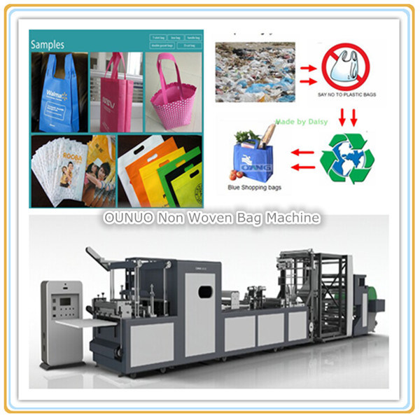 D-Cut Bag with Online Creasing Making Machine
