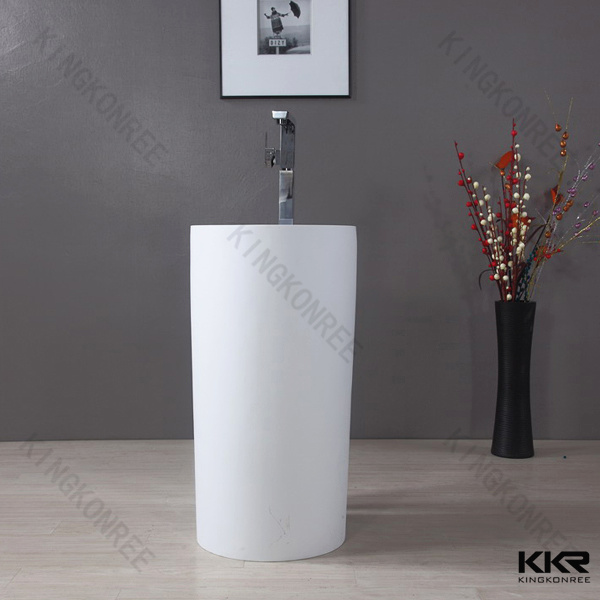 Standing Sink : China Solid Surface Resin Stone Floor Standing Wash Basin Photos ...