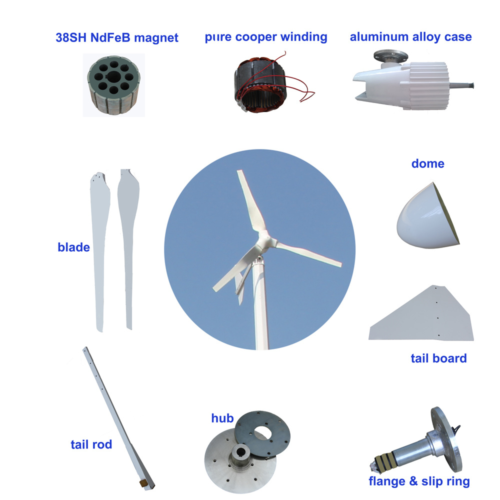 1kw Wind Turbine/ Wind Mill/ Wind Generator