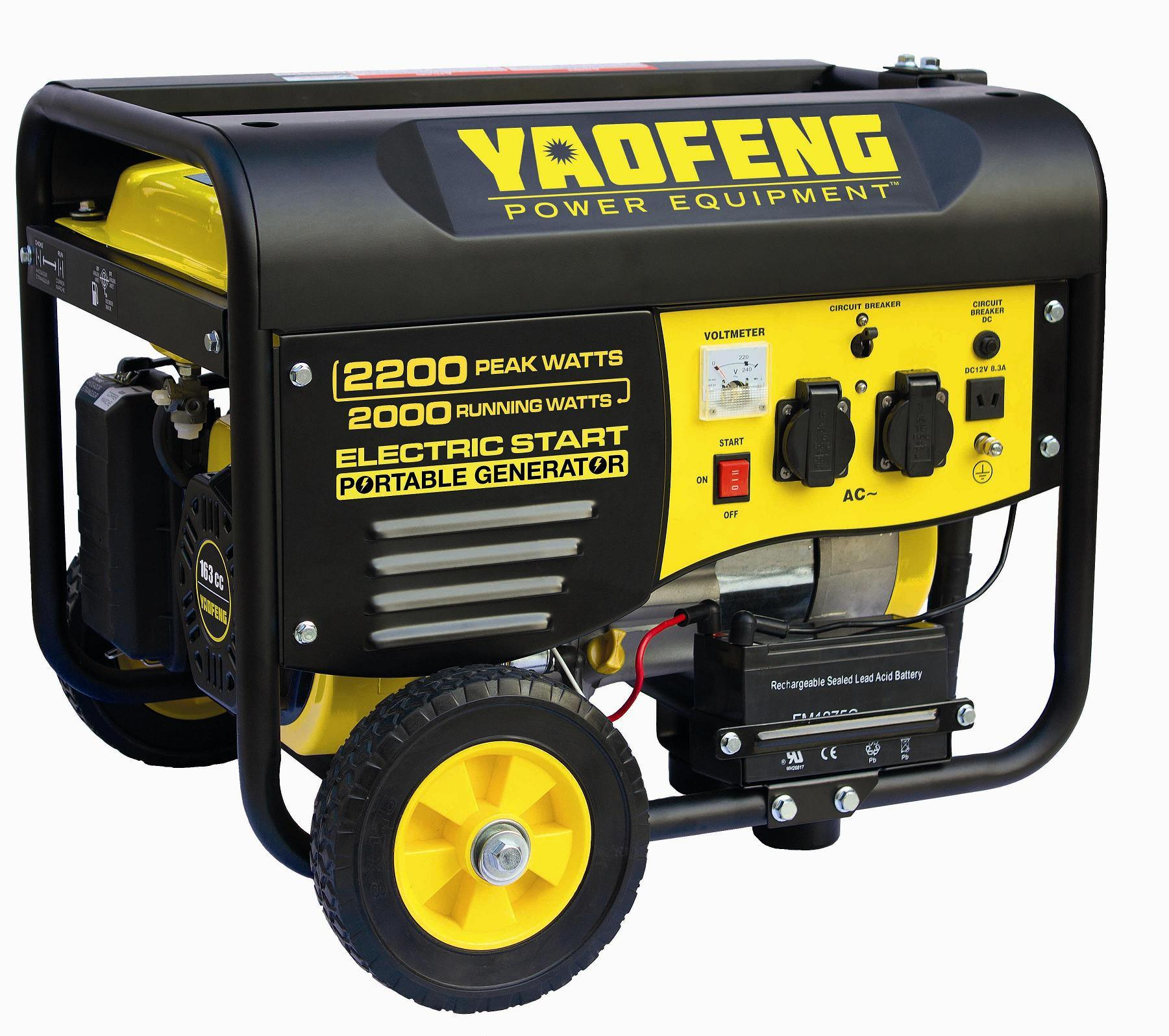 2000 Watts Portable Power Gasoline Generator with EPA, Carb, CE, Soncap Certificate (YFGP2500E2)