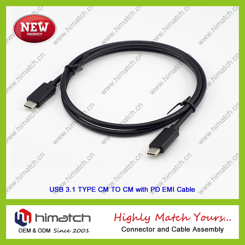 USB 3.1 and Type C Cable for Cellphone and Computer