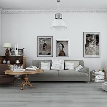 Waterproof Lvt Click Vinyl Flooring / PVC Floor