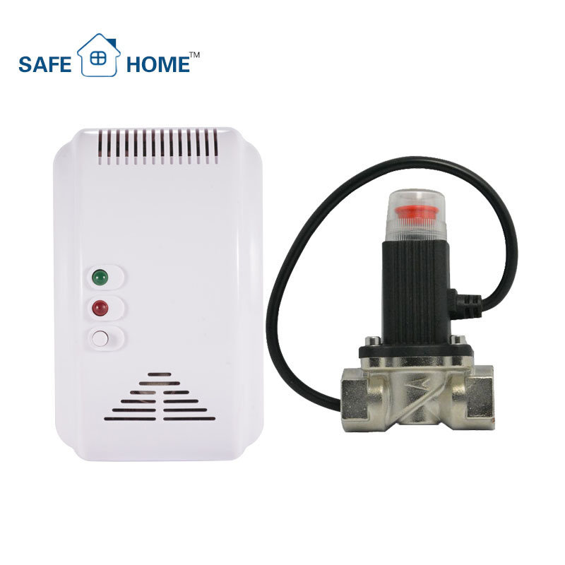 Gas Leakage Detector with Valve for Smart Home Security System