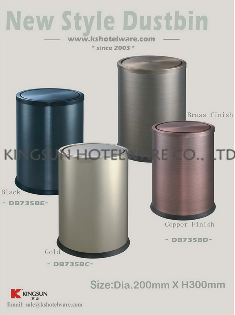 Home Metal Garbage Can with Cover Db-735bc