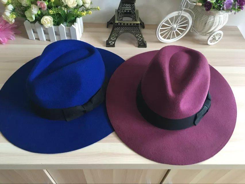 Fashion Wool Felt Mens Cowboy Hat with Leather Sweatband