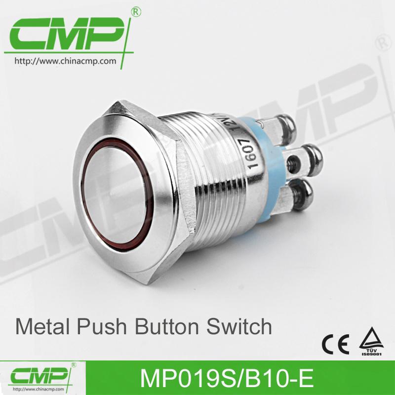CMP 19mm Metal Push Button with Power Symbol Illumination