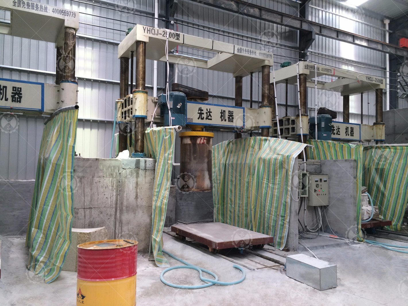 Yhqj-2500 Gantry Stone Cutting Machine for Column Slab