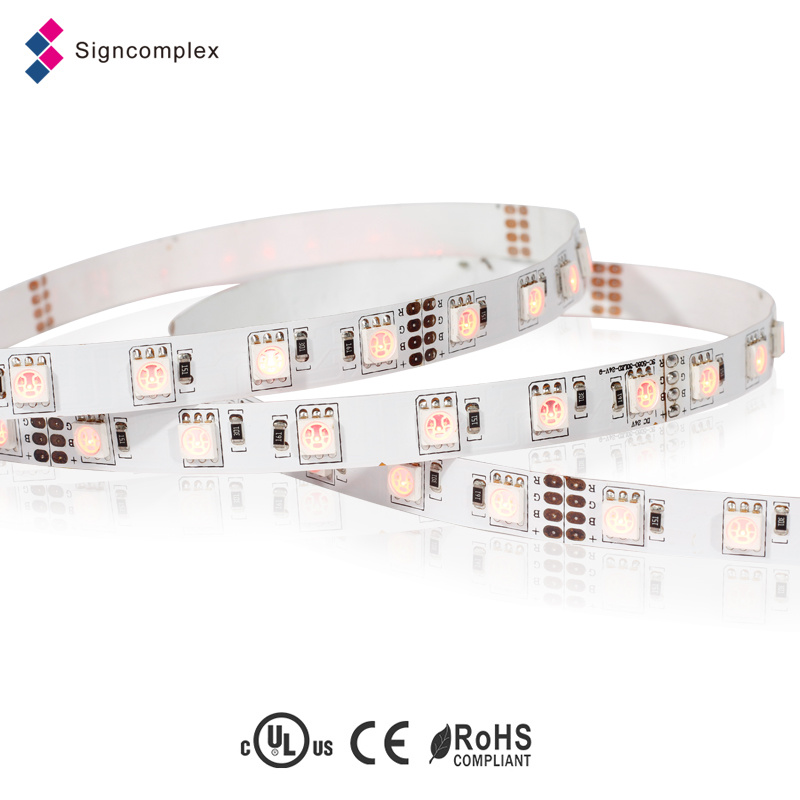 Decorative RGB Rope LED Light 12 Volt Christmas Lighting, SMD 3528 LED Strip