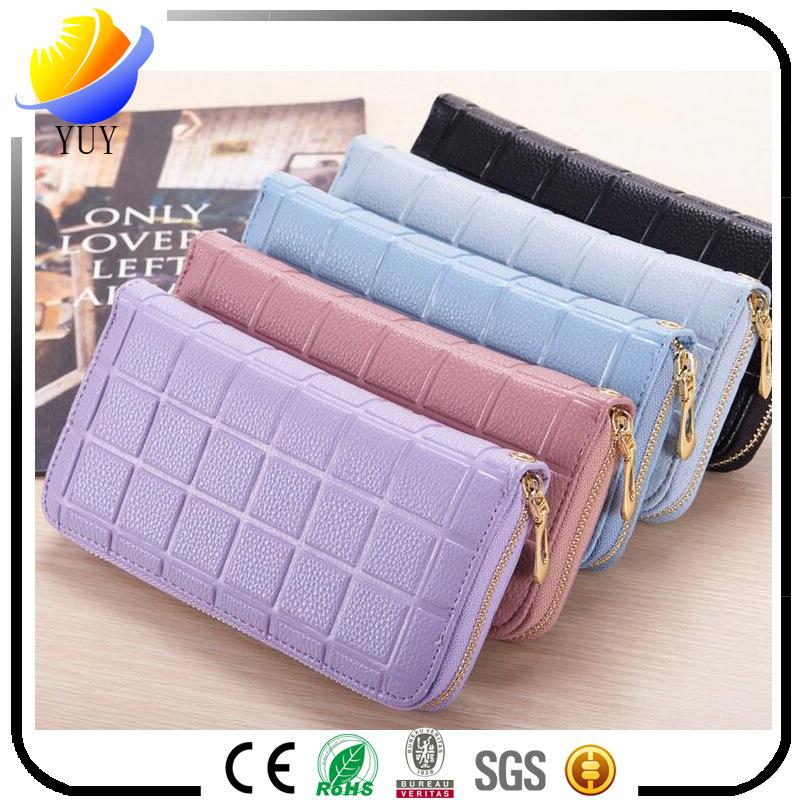 2017 New Lady Long Wallet Korean Original Ultra-Thin Bag Lady Small Wristlet Wallet Card