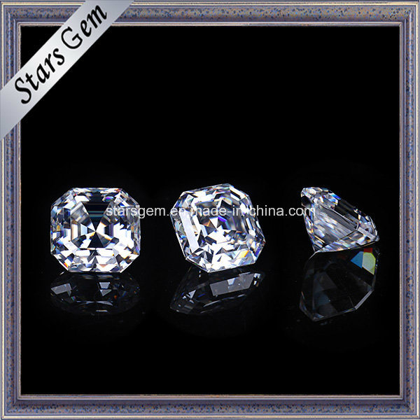 Sparkle Asscher Cut 8X8mm Moissanite Loose Stone
