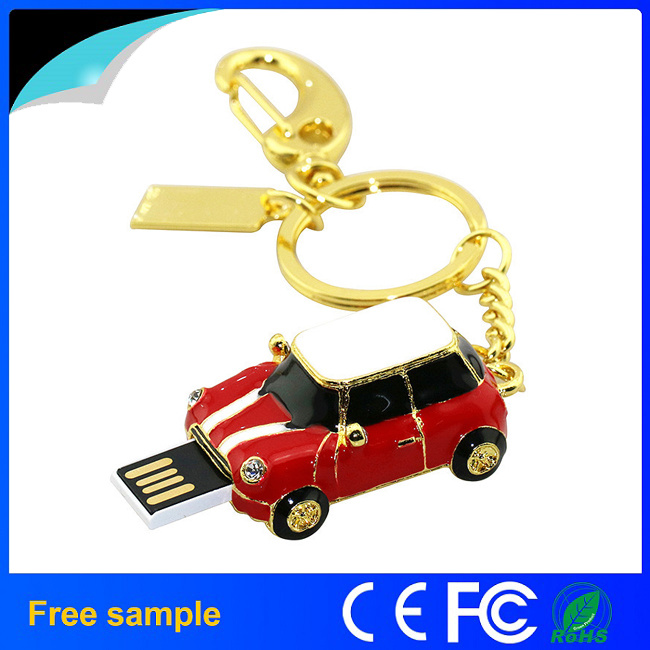 Fashion Cool Gift Metal Car Jewelry Flash Memory Drive 8GB