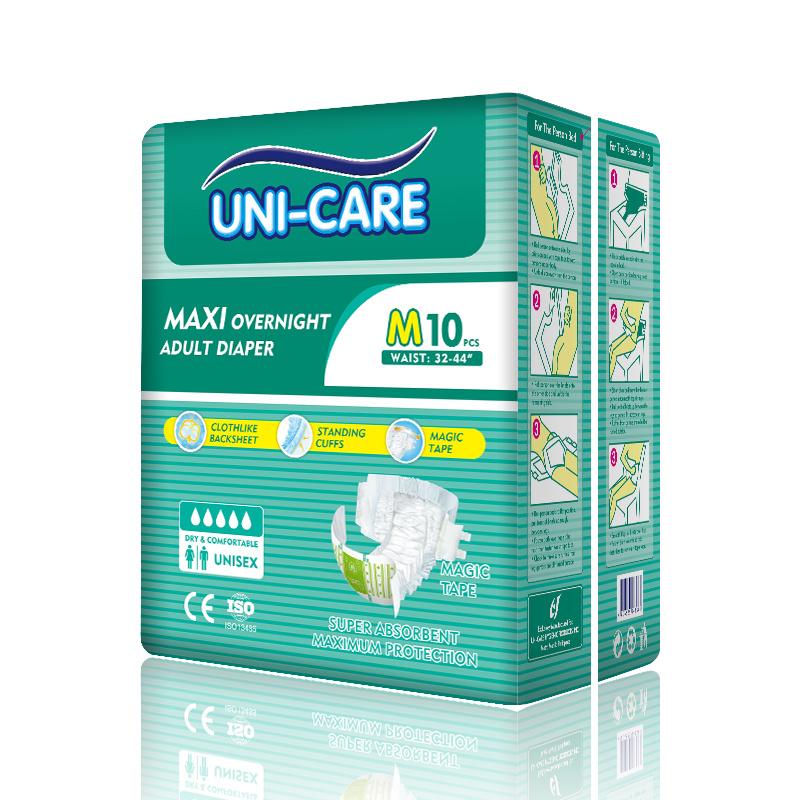 Manufacturer OEM Disposable Nappy Magic Tape Adult Diaper
