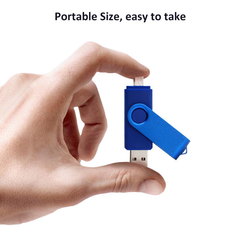 Swivel OTG USB2.0 Flash Drive Pendrive USB Stick 8GB 16GB