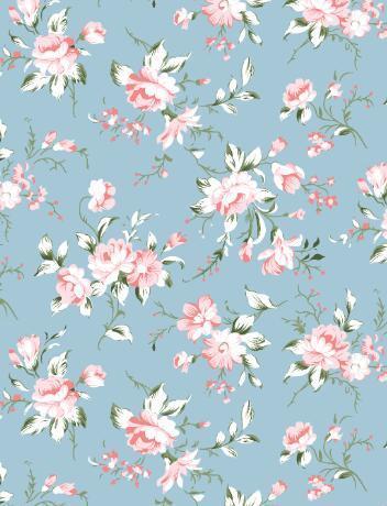 Vintage Design Floral Prints Cotton Bed Sheet