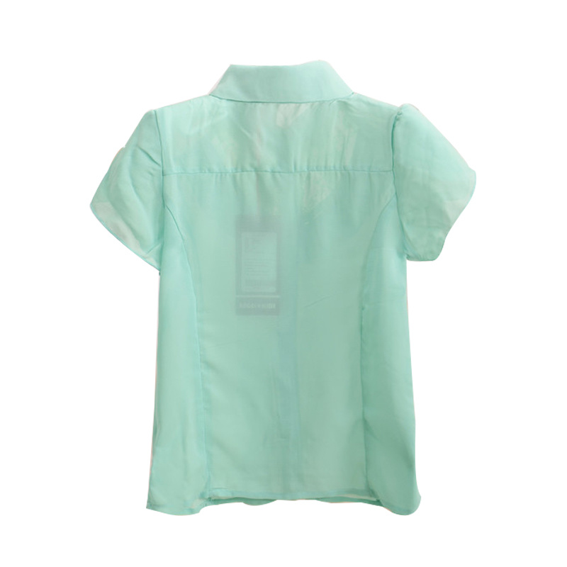 Kids Fashion Casual Chiffon Short Sleeve Shirt for Summer