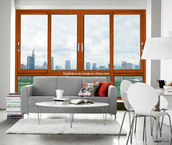 Latest Design Cheap Metel Double Glazing Aluminum Sliding Window (CL-W1012)