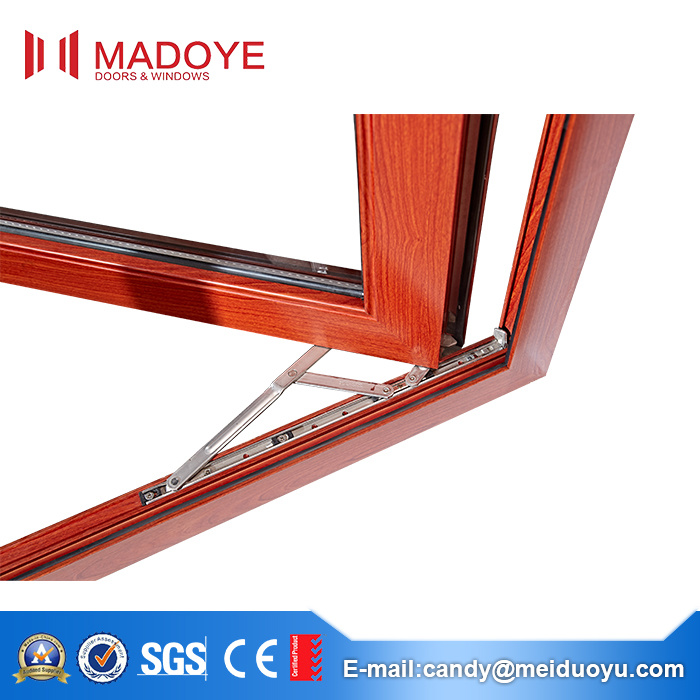 5mm Tempered Glass Aluminum Casement Window for Construction Material