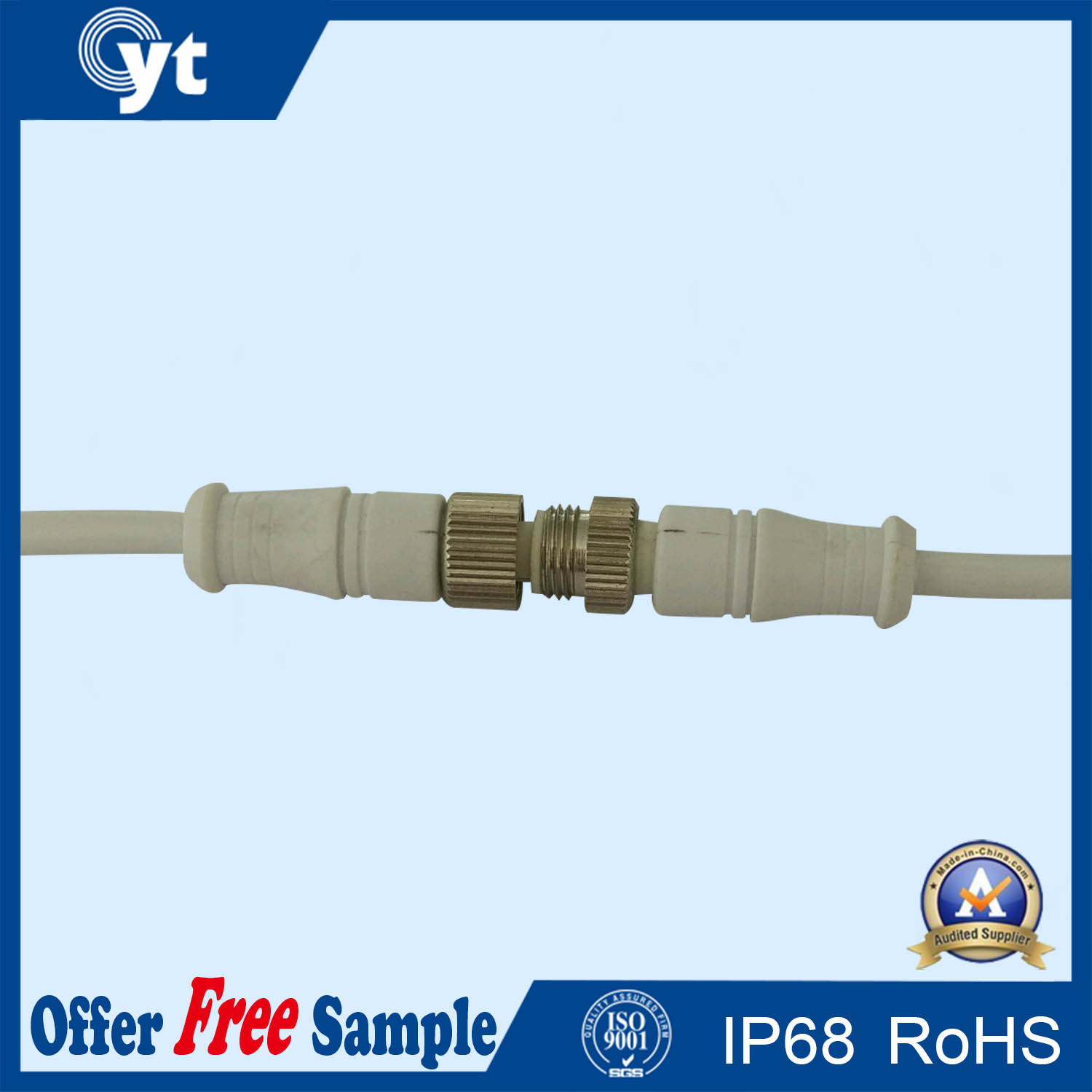 M11 Series Plastic Male to Female Electrical Waterproof Connector
