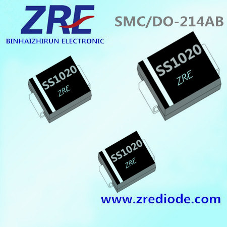 10A Schottky Barrier Rectifier Diode Ss102 Thru Ss1020 SMC-Do/214ab Package