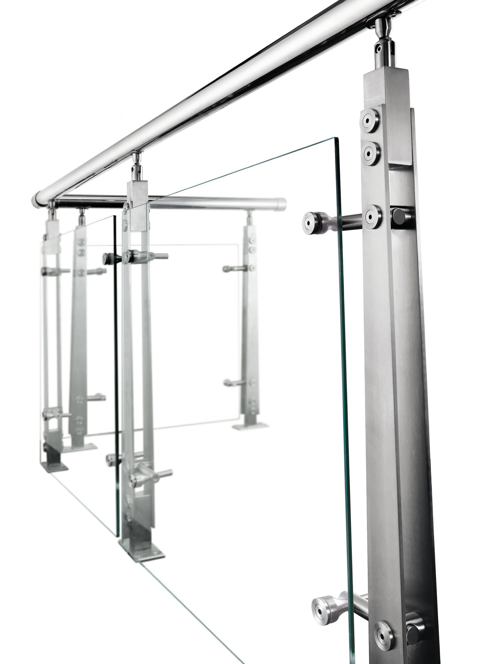 Stainless Handrail Fittings for Glass Support