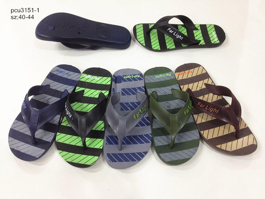 Men′s PVC Flip Flops Slipper Beach Sandal (YF-2112)