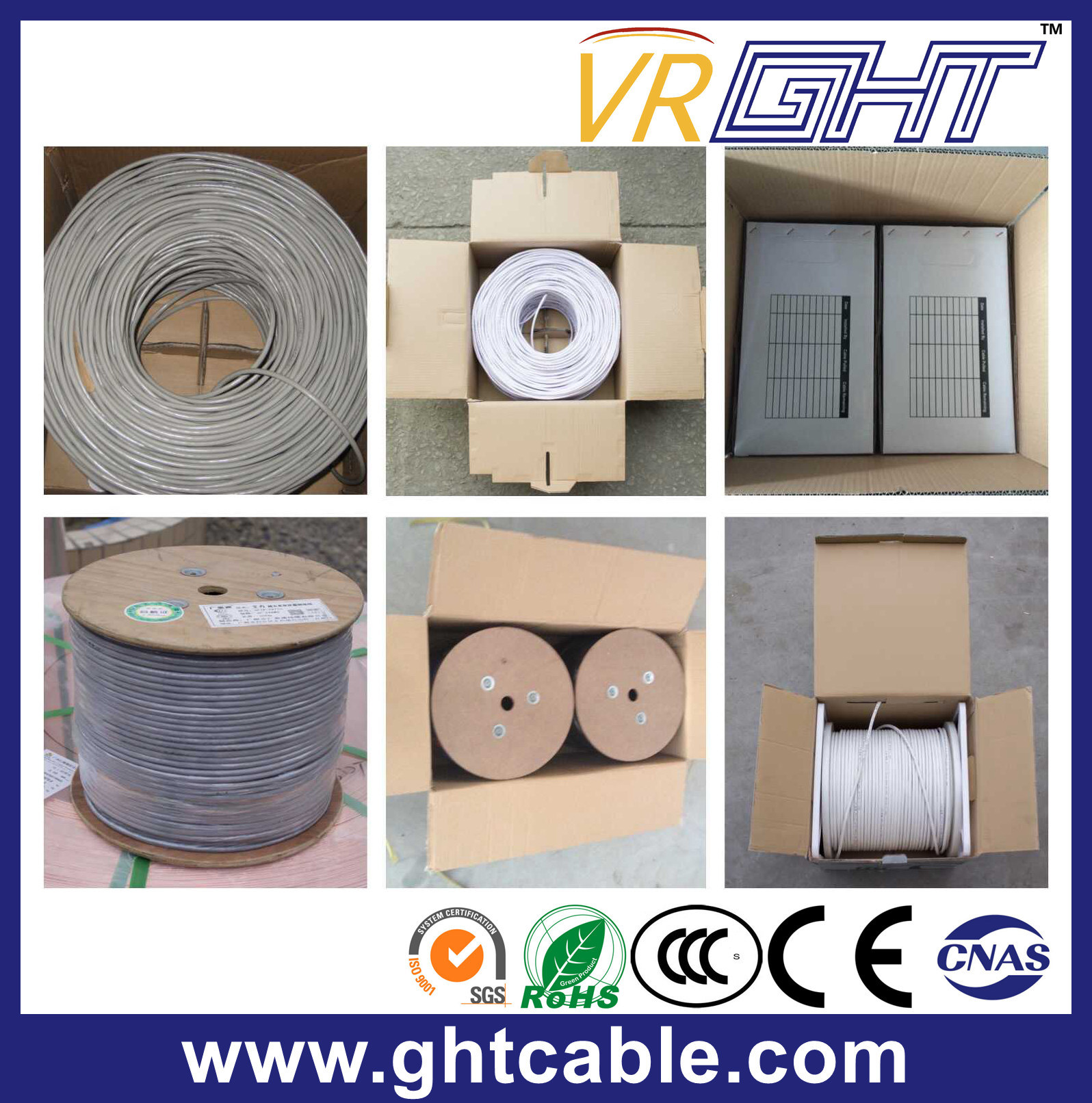 Solid Bare Copper UTP CAT6 LAN Cable