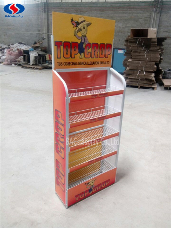 Five Layers Metal Display Stand, Exhibition Stand, Advertising Rack
