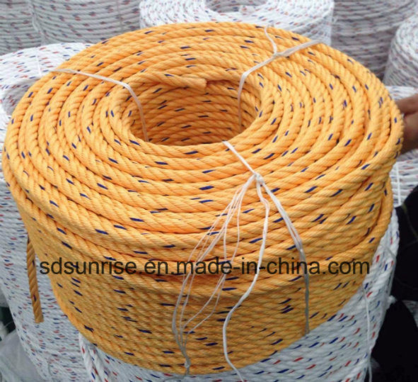 Premium Quality Polypropylene Rope Yellow with Blue