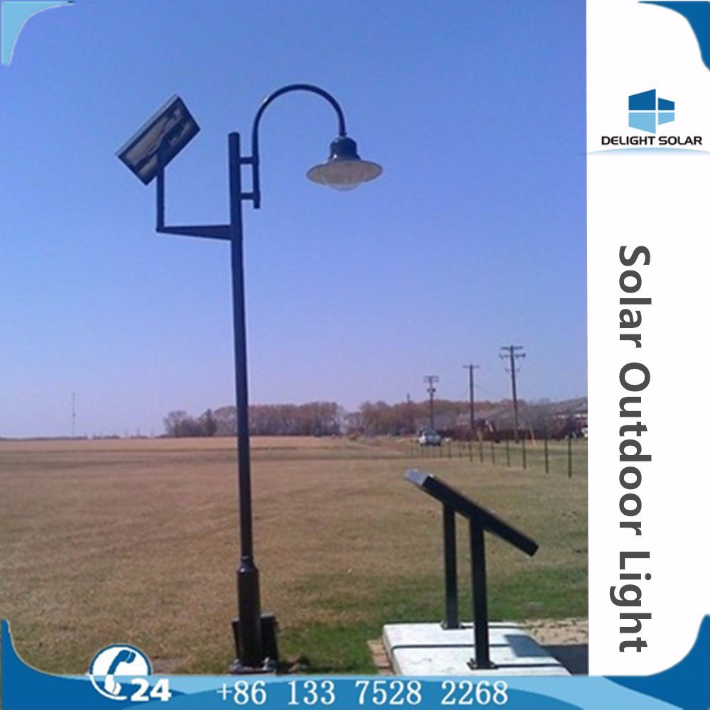 2.5m/3m/4m Single/Double Lamp Solar Outdoor Decorative Park Garden LED Light