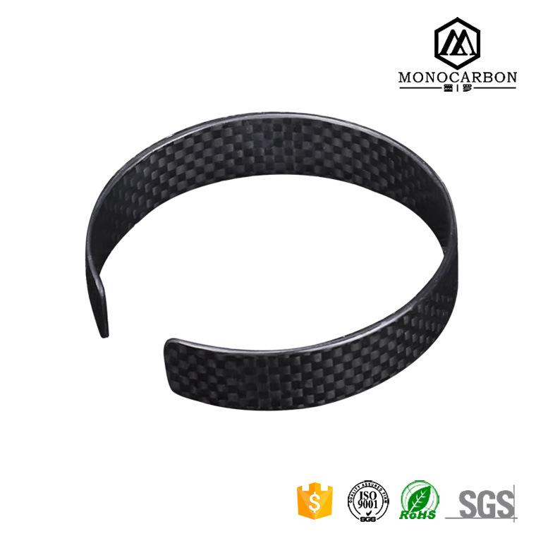 Custom Carbon Fiber Bracelets Relationship Cool Bracelets for Boys Black Matte/Glossy Bracelets