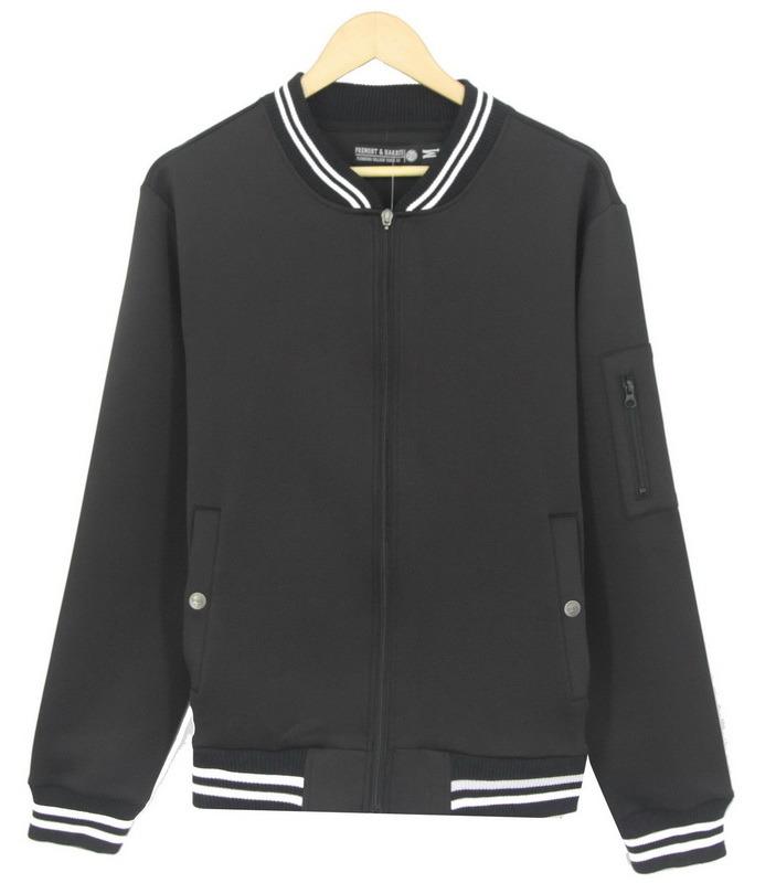 2017 Men Fashion Neoprene Embossing Print Jacket Top Clothing Sweatshirt (H0128)