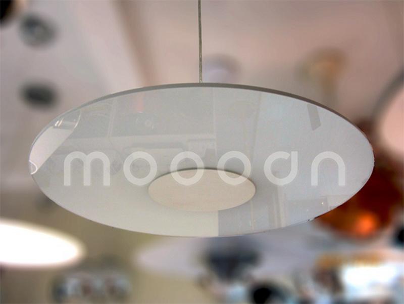 Science Fiction Style Aluminum Glass Circular Disk Ultrathin UFO Pendant Light
