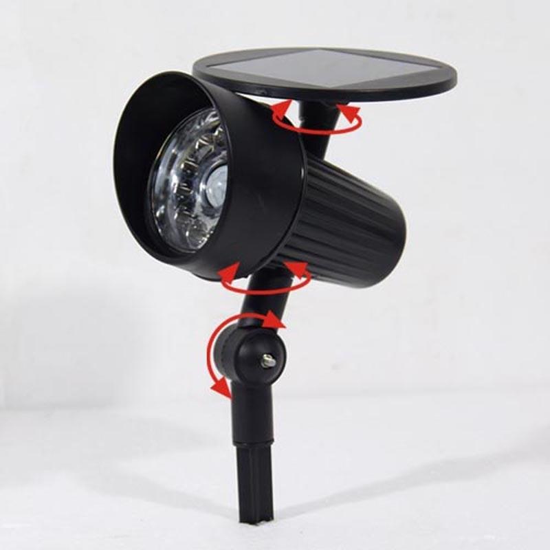 Solar Security Light Outdoor PIR Senson Spotlight ABS Black Lawn/Wall LED Light for Garden
