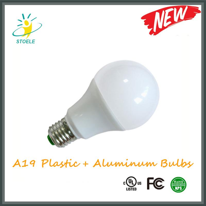A60 A19 Plastic Aluminum LED Bulb Light 5W 7W 10W 12W LED Bulb E27 B22 with IC Driver