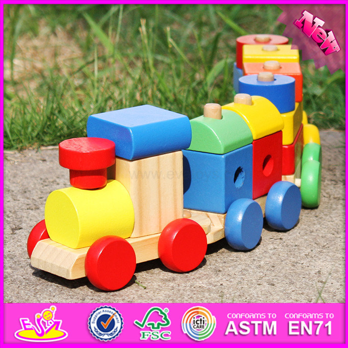 2016 Wholesale Fashion Kids Wooden Block Toy Car W04A280